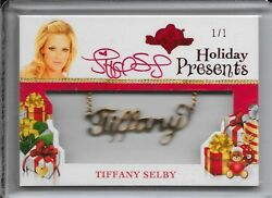 2012 Benchwarmer Holiday Selby Presents Necklace Red Auto 1/1 Autograph