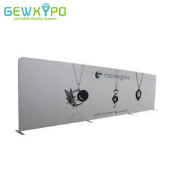 27ft*8ft Straight Portable Exhibition Fabric Display With One Side Print Banner