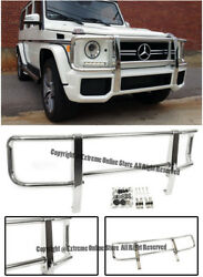 For 13-Up Benz W463 G-Class G63 G65 Front Bumper Brush Grille Guard Protector