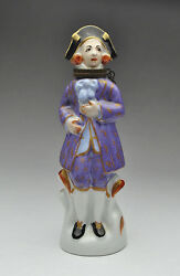 Antique French Porcelain Perfume Scent Bottle - Height 5 1/4