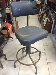Emeco Industrial Shop Chair Stool Vintage 1964 Good Condition Comfortable