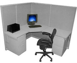 5x6 53 H Herman Miller Call Medium Wall Center Cubicle With Paint/fabric Choice