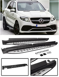 For 16-up Mercedes Benz C292 Gle-class Suv Side Step Nerf Bars Running Board