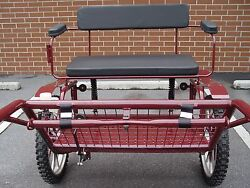 Horse Carriage, 2 Wheel Buggy, 49 Wide Wheel Size 25 Burgundy
