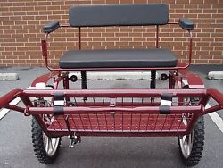 Horse Carriage 2 Wheel Buggy 49 Wide Wheel Size 25 Burgundy