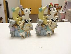 Vintage Nursery Rhyme Book Ends Cow Jumped Over The Moon, Hey Diddle Diddle,