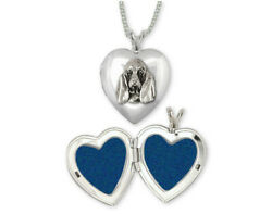 Basset Hound Photo Locket Jewelry Sterling Silver Handmade Dog Photo Locket BAS6