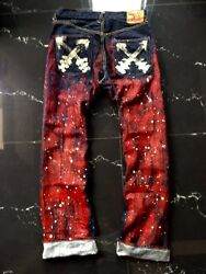 Authentic Evis Yamaneand039s Pyro Raw Type Selvedge Jeans Size 31