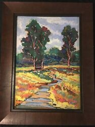 Three Oil On Canvas Paintings Framed And Signed