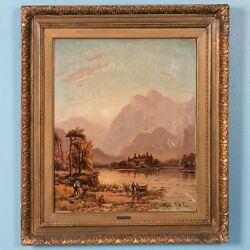 Antique Original Landscape Oil Painting Signed And Dated D. Mclea 1911