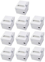 Lot Of 10 Epson Tm-t88iv Pos Thermal Printer Ethernet Interface Cool White