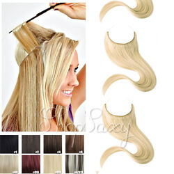 Long Halo Secret Invisible Wire Human Hair Extensions Remy Hair