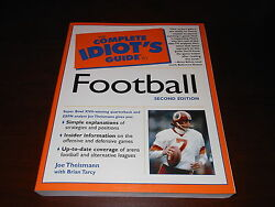 Joe Theismann Signed The Complete Idiots Guide To Football Autograph Book Rare