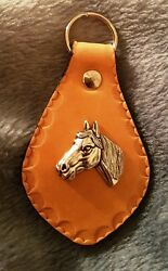 Horse Pony Head Leather Keyring Beautiful Handcrafted in Tasmania Souvenir