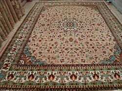 New Floral Medallion Rectangle Area Rug Hand Knotted Wool Silk Carpet 10 X 14'