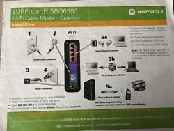 Motorola Surfboard Sbg6580 Cable Modem And Wireless Router Combo