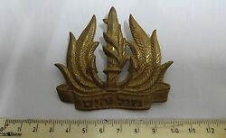 Israel Navy Idf- Obsolete Navy Officer Hat Pin Badge - Very Rare Item From 1989