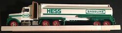 Hess White Toy Tanker Truck With Horn And Back-up Alert 1990 In Box