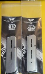 Lot Of 2 - Wilson Combat 1911 45acp Full Size 8 Round Magazine 8rd Mag 47d - New