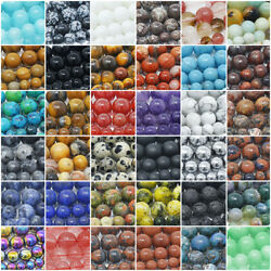 Natural Gemstone Beads Round 4mm 6mm 8mm 10mm 12mm 15.5quot; Strand