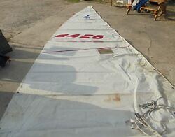 Uk Sail Makers Main Sail And Boom For J-24 In Fair Condition. 29.42and039 Luff