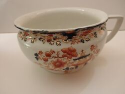 Early 1880's Colorful Chamber Pot By Myott Son And Co. In Yorkshire England