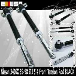 Front Pillow Tension Rod For Nissan 240sx 1989-1994 S13/ 1995-1998 S14 Black