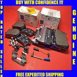 Front And Rear Brake Pad Sets W/sensors For 14-17 Mercedes S450 S550 S550e S560 Oe