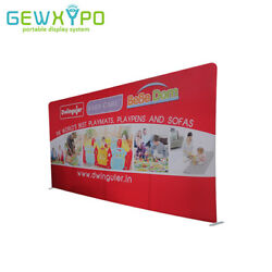 20ft*10ft Straight Tension Fabric Display Backdrop With One Side Printed Banner