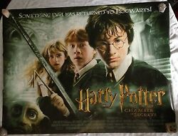 Harry Potter And The Chamber Of Secrets Quad Poster Daniel Radcliffe,emma Watson