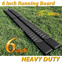 Fit 2005-2021 Nissan Frontier Crew Cab 6 Running Board Nerf Bar Side Step Blk H