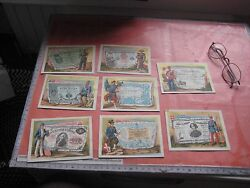 135 Advertising Chromos, Trade Cards Before 1900 France Small Villages Dep 70à74