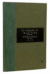 To Poland In War-time Joseph Conrad 1/25 Limited First Edition Thomas Wise