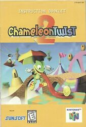 Nintendo 64 Chameleon Twist 2 Instruction Booklet Manual