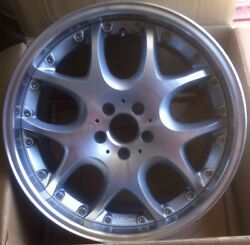 Brabus Mono V 2pc 10 X 19 Et 35 5112 Silver Made In Germany One Wheel Only