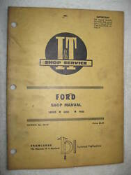Iandt Ford Series 8000 And 9000 Tractor Shop Service Manual