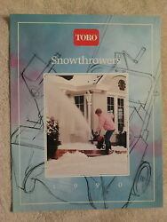 1990 Toro Snow Throwers And Accessories 16 Page Brochure Nice