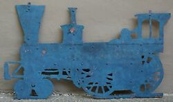 Rare Antique Late 1800and039s Steam Engine Farm Tractor Cut Sheet Copper Trade Sign