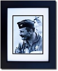 Framed 8 X 10 Photograph Of Gen. Robin Olds After A Mission - Aviation Gifts