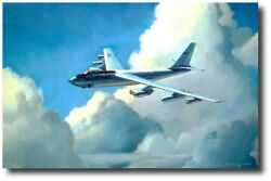 Sac B-47 Stratojet By Nixon Galloway - Signed By Four Sac Wing Commanders