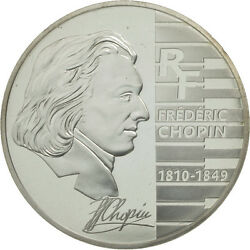 [462474] France, 1-1/2 Euro, Chopin, Proof 2005, Ms65-70, Silver, Km2027