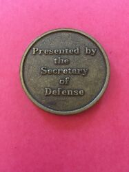 Real Challenge Coin Secretary Of Defense Leslie Aspin And Dick Cheney