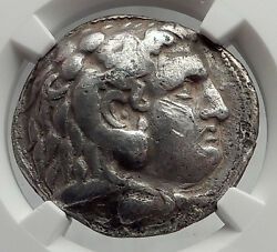 Celtic Celts Silver Tetradrachm Coin Greek King Alexander The Great Ngc I61971