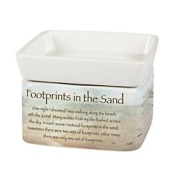 Footprints in the Sand Ceramic Electric 2 in 1 Jar Candle and Wax and Oil Warmer