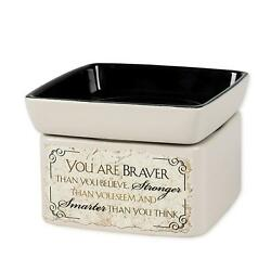 You are Braver Stronger Smarter Electric 2 in 1 Jar Candle and Wax Oil Warmer