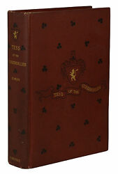 Tess Of The Dand039urbervilles By Thomas Hardy First American Edition 1892 1st Us