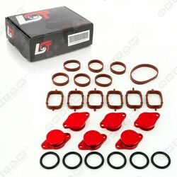 32mm RED ALUMINIUM SWIRL FLAP REPLACEMENT SET + O-RING FOR BMW X3 X5 NEW