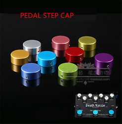 Guitar Effects Pedal Candy Footswitch Topper Protector Bumpers Aluminum + Rubber