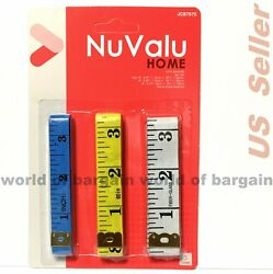 3 Pc Set Measuring Tape Waist Line Tailor Sewing Measure Soft Ruler Tapes Th15