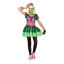 Girls Rockin#x27; 80#x27;s Costume size Large 12 14